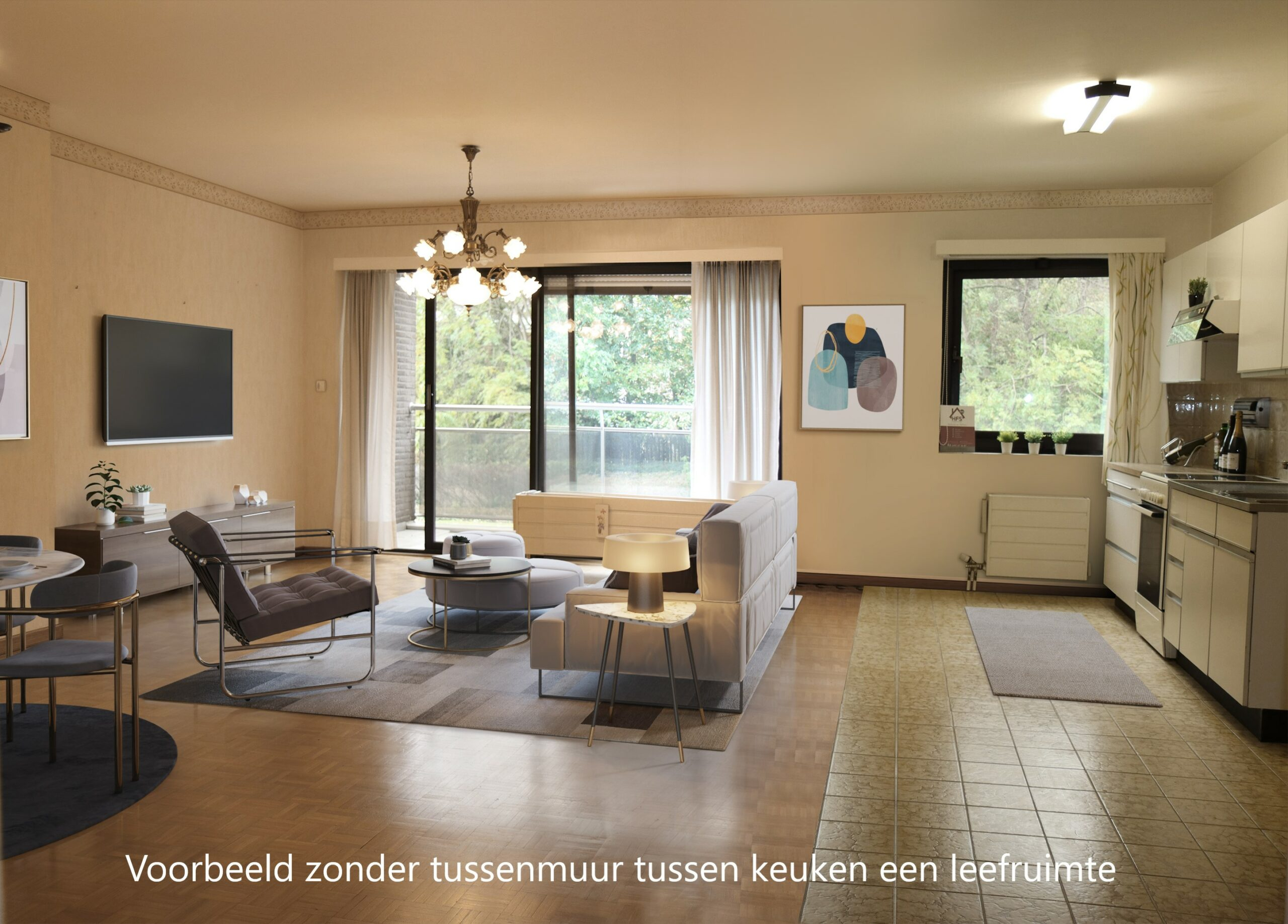 0.1 STAGED LIVING EN KEUKEN