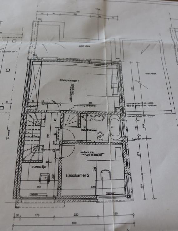 plan 1ste verdieping